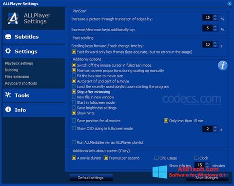 Screenshot ALLPlayer for Windows 8.1