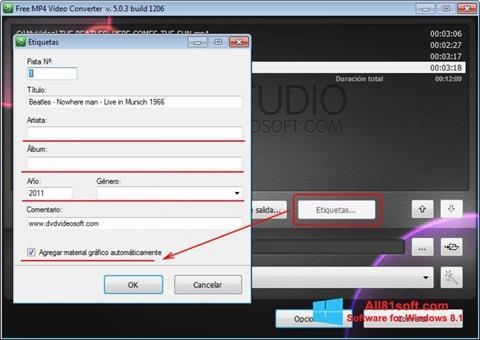 Screenshot Free MP4 Video Converter for Windows 8.1