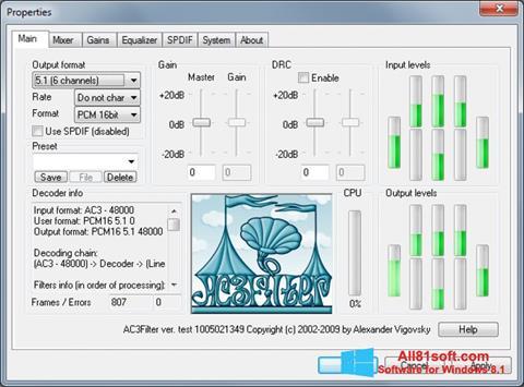 Screenshot AC3Filter for Windows 8.1