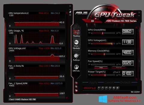 Screenshot ASUS GPU Tweak for Windows 8.1