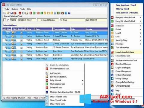 Screenshot Auto ShutDown for Windows 8.1