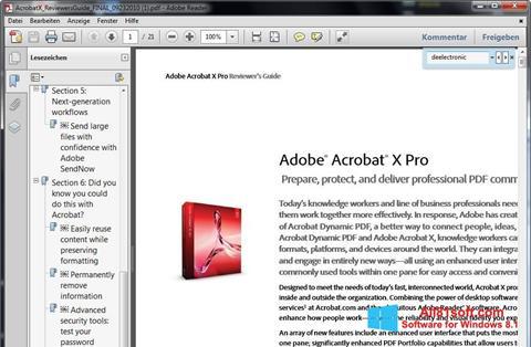 Screenshot Adobe Reader for Windows 8.1