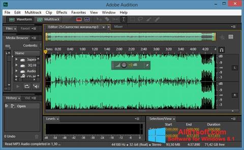 Screenshot Adobe Audition CC for Windows 8.1