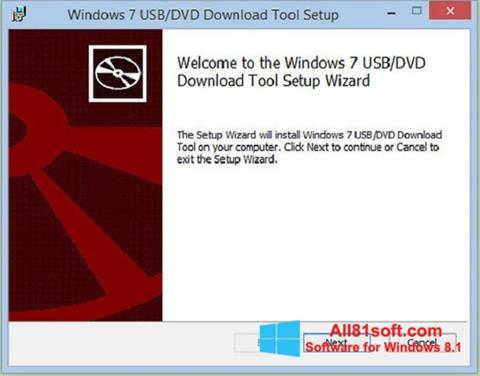 Screenshot Windows 7 USB DVD Download Tool for Windows 8.1