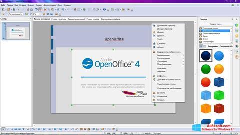 Screenshot Apache OpenOffice for Windows 8.1