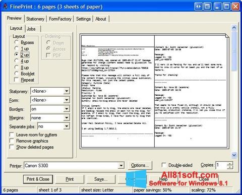 Screenshot FinePrint for Windows 8.1
