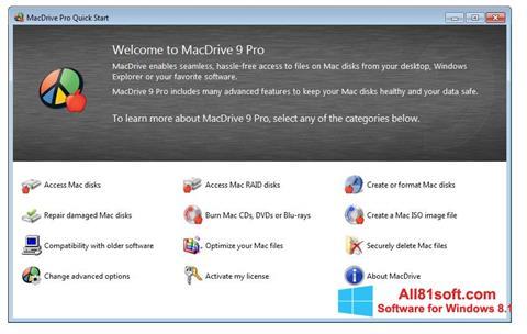 Screenshot MacDrive for Windows 8.1