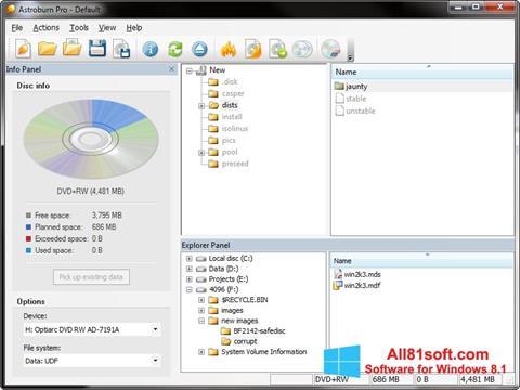 Screenshot Astroburn Lite for Windows 8.1