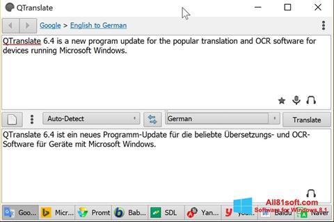 Screenshot QTranslate for Windows 8.1