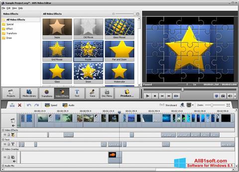 Screenshot AVS Video Editor for Windows 8.1