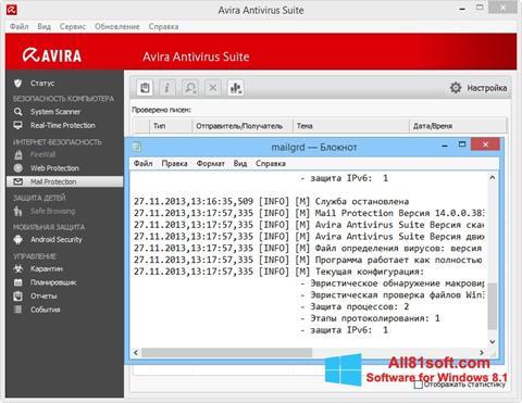 Screenshot Avira for Windows 8.1
