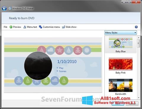 Screenshot DVD Maker for Windows 8.1