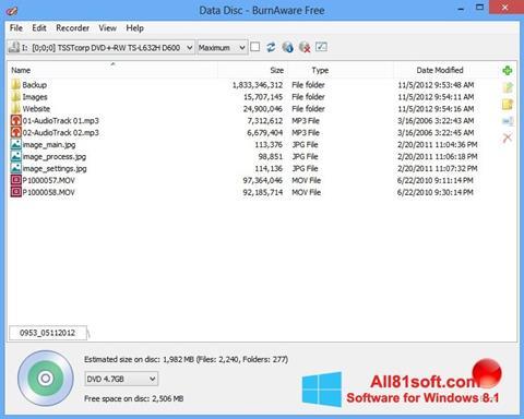 Screenshot BurnAware Free for Windows 8.1