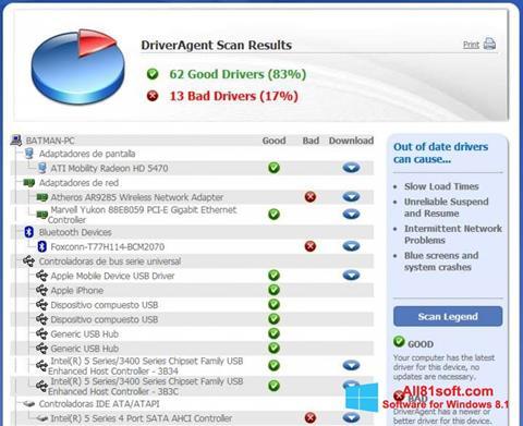 Screenshot DriverAgent for Windows 8.1