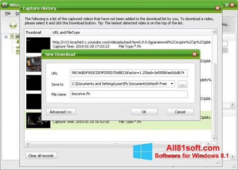 Screenshot Free Video Catcher for Windows 8.1