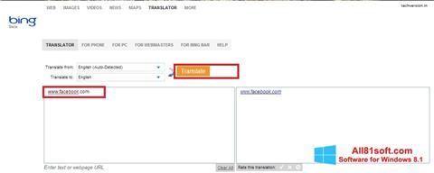 Screenshot Bing Translator for Windows 8.1