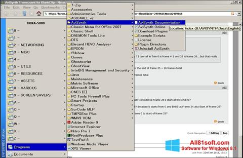 Screenshot AviSynth for Windows 8.1