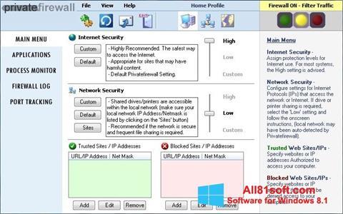 Screenshot Privatefirewall for Windows 8.1