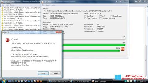 Screenshot ImgBurn for Windows 8.1