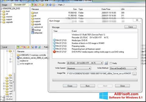 Screenshot UltraISO for Windows 8.1