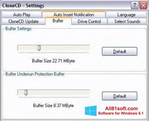 Screenshot CloneCD for Windows 8.1