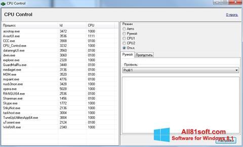 Screenshot CPU-Control for Windows 8.1