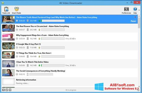 Screenshot 4K Video Downloader for Windows 8.1
