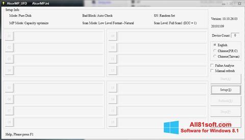 Screenshot AlcorMP for Windows 8.1