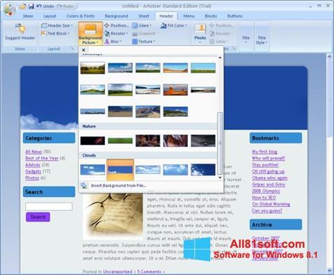Screenshot Artisteer for Windows 8.1