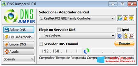Screenshot DNS Jumper for Windows 8.1