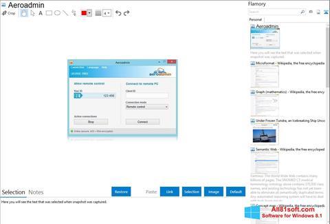Screenshot AeroAdmin for Windows 8.1