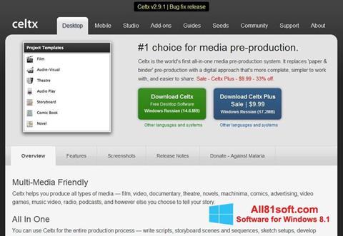 Screenshot Celtx for Windows 8.1