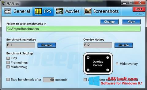 Screenshot Fraps for Windows 8.1