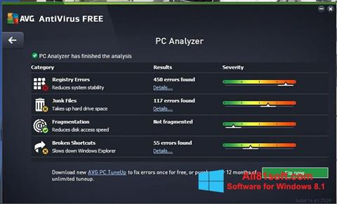 Screenshot AVG AntiVirus Free for Windows 8.1