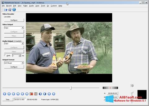 Screenshot Avidemux for Windows 8.1