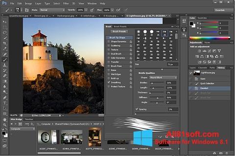 Screenshot Adobe Photoshop for Windows 8.1