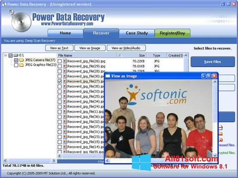 Screenshot Power Data Recovery for Windows 8.1