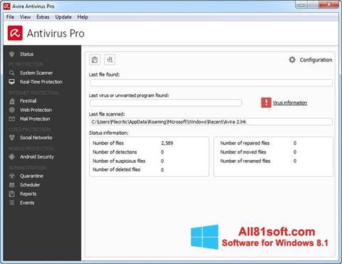 Screenshot Avira Antivirus Pro for Windows 8.1
