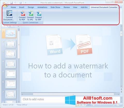 Screenshot Microsoft PowerPoint for Windows 8.1