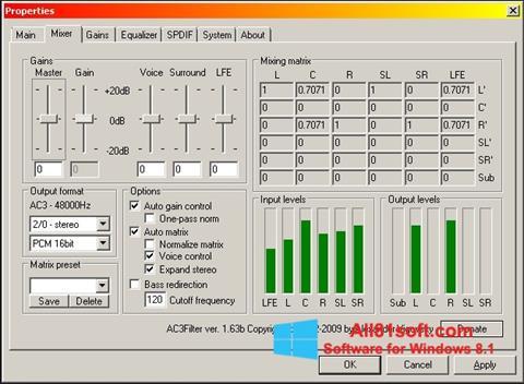 Screenshot AC3 Codec for Windows 8.1