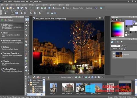 Screenshot PaintShop Pro for Windows 8.1