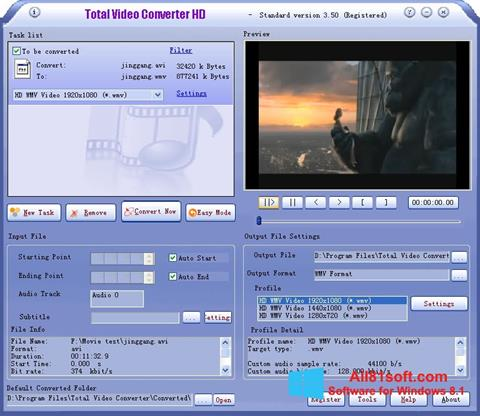 Screenshot Total Video Converter for Windows 8.1