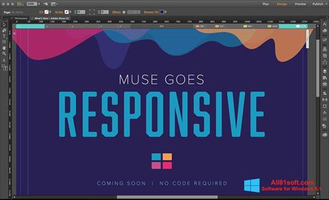 Screenshot Adobe Muse for Windows 8.1