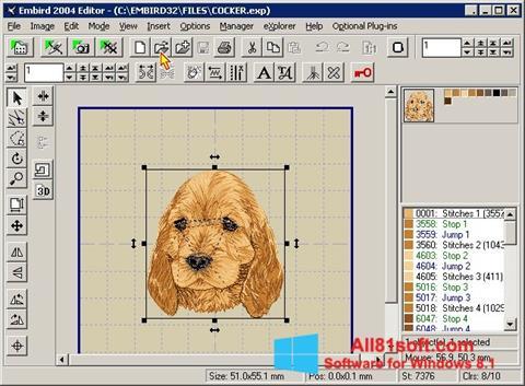 Screenshot Embird for Windows 8.1