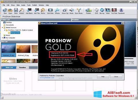 Screenshot ProShow Gold for Windows 8.1