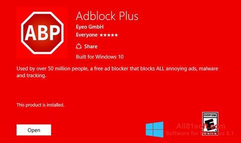 Screenshot Adblock Plus for Windows 8.1