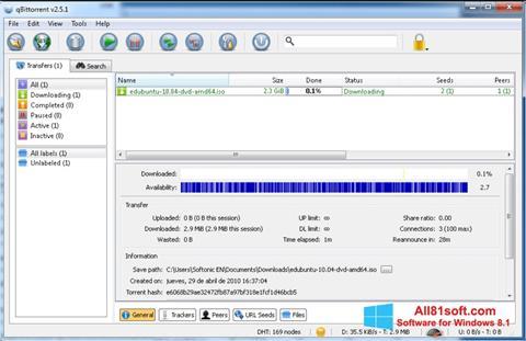 Screenshot qBittorrent for Windows 8.1