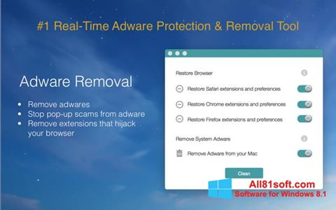 Screenshot Adware Removal Tool for Windows 8.1
