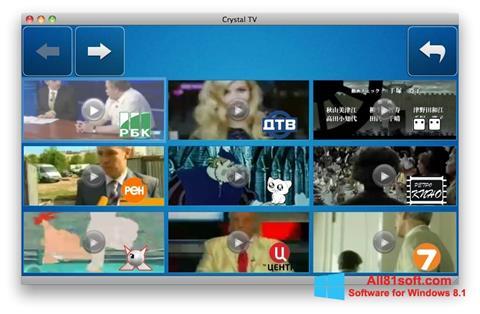 Screenshot Crystal TV for Windows 8.1