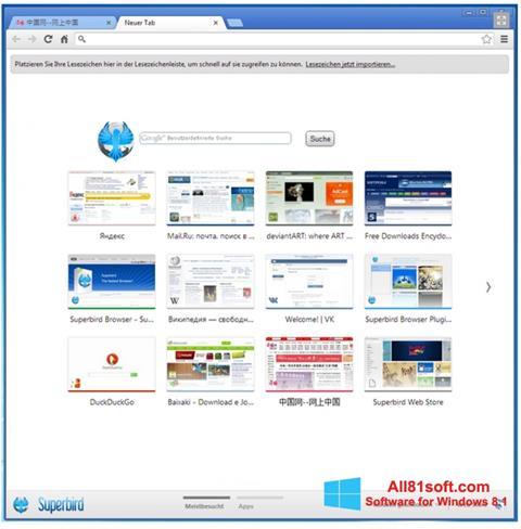 Screenshot Superbird for Windows 8.1
